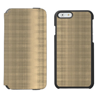 Grunge Brown Tartan Plaid 90s style Incipio Watson™ iPhone 6 Wallet Case