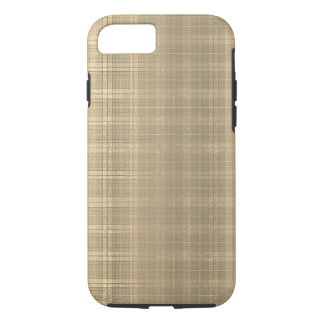 Grunge Brown Tartan Plaid 90s style iPhone 8/7 Case
