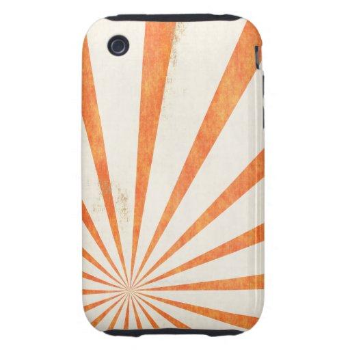 Grunge Burst Of Rays iPhone 3 Tough Cases