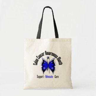 Grunge Butterfly - Colon Cancer Awareness Month Tote Bag