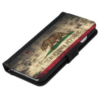 Grunge California Flag iPhone 6 Wallet Case