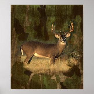 Grunge Camoflage- Big Buck-  Print