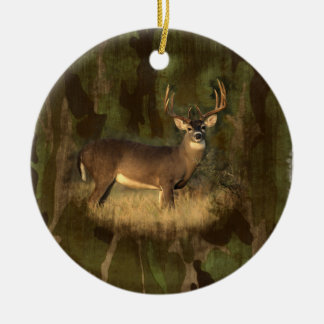 Grunge Camoflage Deer-  Ornament