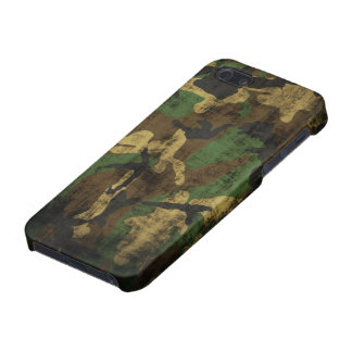 Grunge Camouflage Pattern Case For The iPhone 5
