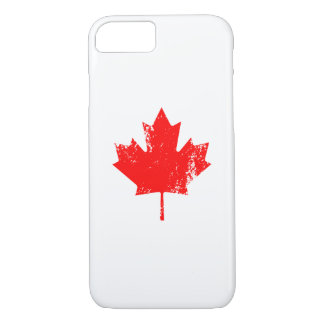 Grunge Canada Flag Maple - Red Distorted iPhone 7 Case