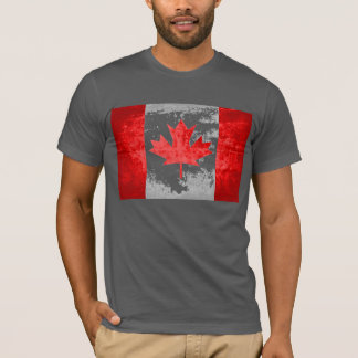 Grunge Canadian Flag T-Shirt