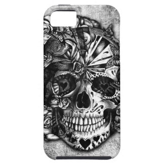 Grunge Candy sugar skull in black and white iPhone 5 Covers