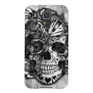 Grunge Candy sugar skull in black and white. Case For Galaxy S5