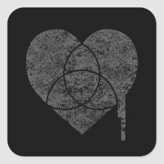 grunge chart heart square sticker
