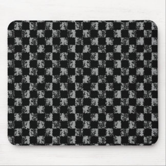 grunge checkers mouse mat
