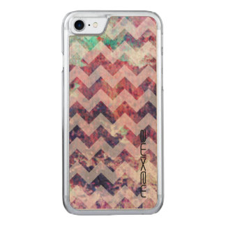 grunge chevron pattern by name carved iPhone 8/7 case