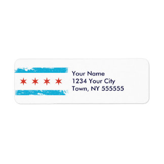 Grunge Chicago Flag