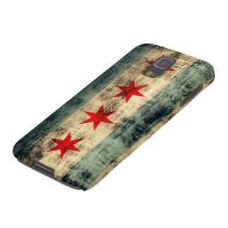 Grunge Chicago Flag Galaxy S5 Cover