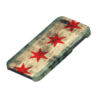 Grunge Chicago Flag iPhone 5 Cases