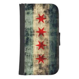 Grunge Chicago Flag Phone Wallet Case