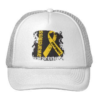 Grunge Childhood Cancer Awareness Mesh Hats