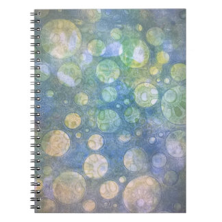 Grunge circles notebook