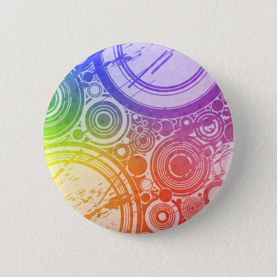 Grunge Circles: Rainbow Edition: 6 Cm Round Badge