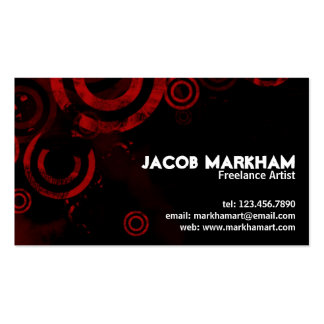 Grunge Circles - Red Pack Of Standard Business Cards