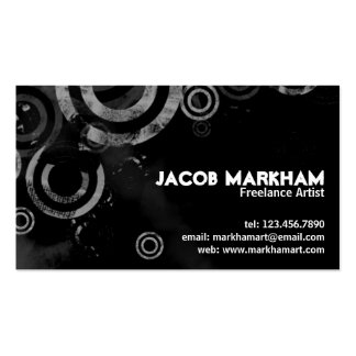 Grunge Circles - White Double-Sided Standard Business Cards (Pack Of 100)