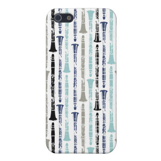 Grunge Clarinets - Blue and Gray Case For The iPhone 5