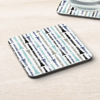 Grunge Clarinets - Blue and Gray Coaster