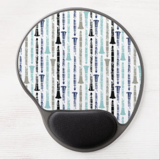 Grunge Clarinets - Blue and Gray Gel Mouse Pad
