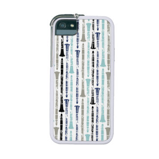 Grunge Clarinets - Blue and Gray iPhone 5/5S Case