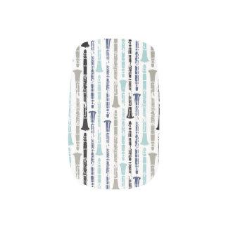 Grunge Clarinets - Blue and Gray Nail Wrap