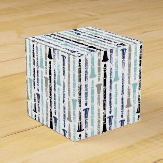 Grunge Clarinets - Blue and Gray Party Favour Boxes