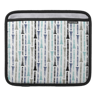 Grunge Clarinets - Blue and Gray Sleeve For iPads
