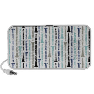 Grunge Clarinets - Blue and Gray Travelling Speakers