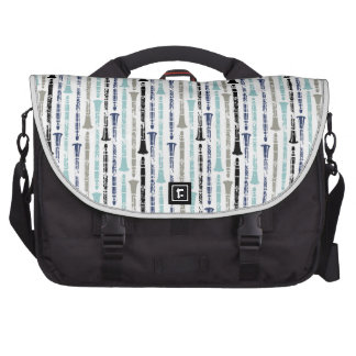 Grunge Clarinets - Blue and Grey Laptop Commuter Bag