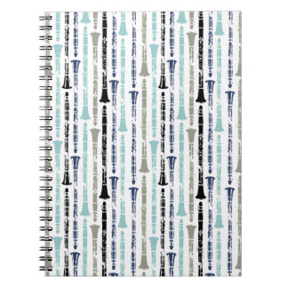 Grunge Clarinets - Blue and Grey Notebook