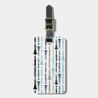 Grunge Clarinets - Blue and Grey Travel Bag Tags