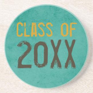 "Grunge ""Class of"" Graduation Gift Coaster"
