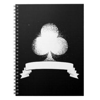 Grunge Club in White Spiral Notebook
