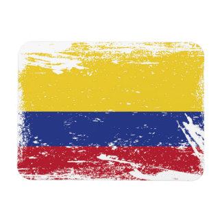 Grunge Colombia Flag Magnet