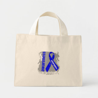 Grunge Colon Cancer Awareness Bags