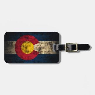 Grunge Colorado Flag Luggage Tag