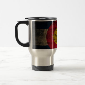 Grunge Colorado Flag Travel Mug