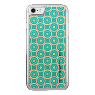 grunge colorful circles pattern with text carved iPhone 8/7 case