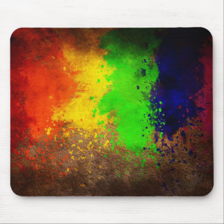 Grunge Colorful Paint Splatter Mousepads