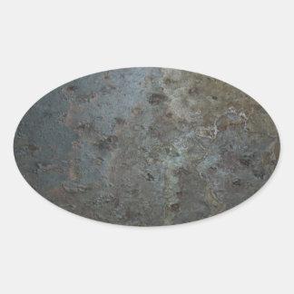 Grunge concrete oval sticker