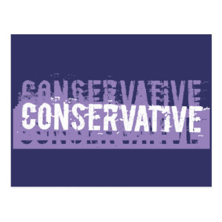 Grunge Conservative Postcard