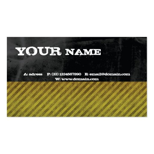 Grunge Construct Business Cards