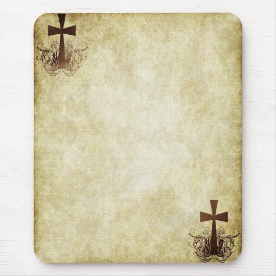 Grunge Crosses #4 - Corners Vertical Mouse Mat