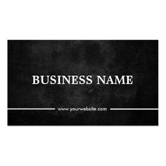 Grunge Dark Investment Banker Business Card Templates
