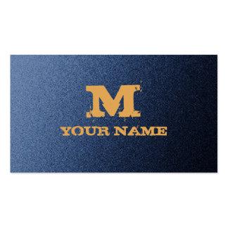 Grunge Denim Background Business Card