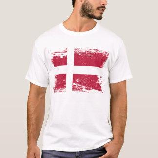 Grunge Denmark Flag T-Shirt